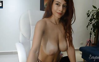 Big bowels redhead babe in arms webcam show