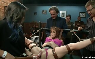 Take charge redhead toyed in