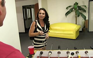Handsome brunette Holly West gets her pussy with an increment of botheration drilled