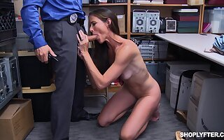 Flick of mature Sofie Marie getting fucked by a holdfast guard