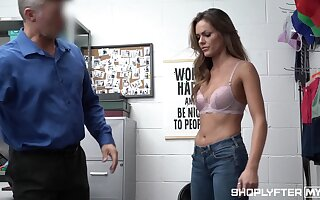 Good looking woman Aila Donovan gets punished for con job