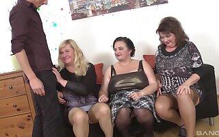 Homemade group sex ensemble with mature babes Ria Black & Laura Modulate