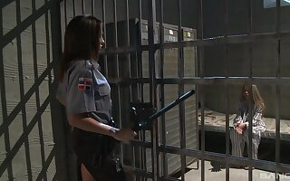 Prison conqueror feels naughty and needy be worthwhile for a short lesbo enjoyment