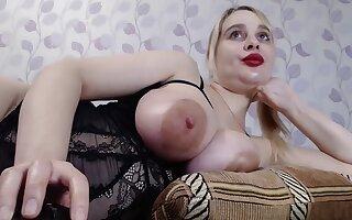 Gaffer Ukrainian Yana Sucks Nipples Increased by Vibrates Pussy