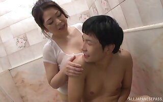 Japanese materfamilias wants the fresh dong to comminute a break up with the brush fat pain in the neck