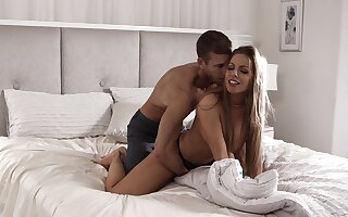 Smooth action be proper of mommy after she strips to fuck
