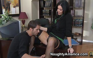 Beautiful India Summer At Office - MILF porn
