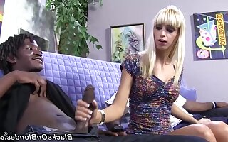 Raunchy whore Erica Fontes mind-blowing interracial scene