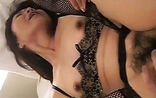 Really Lovely Japanese 50's girl Misaki's juicy pussy