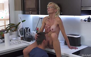 Mature pleases nephew with a fresh cunt that feels so tight
