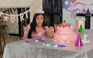 Loneny birthday girl Whitney Wright is obedient by Bridgette B