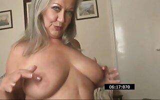 Granny-slut April Thomas Is Posing And Stripping