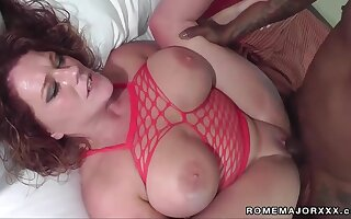 I like it big increased by black - BBW with big natural tits nailed by monster flannel in amateur interracial