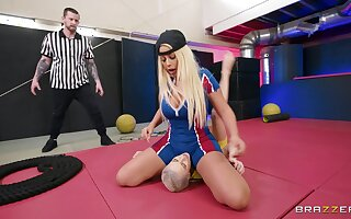 Kinky babes Bridgette B and Kiara Cole shot at sex on the floor