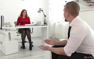 Tight firm sex with a bungle from the office during a job interview