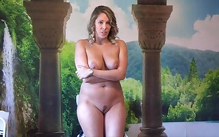 Stripped brunette mom with beamy nuisance - solitarily audition