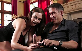Tina Kay handles man's dick find agreeable a real goddess