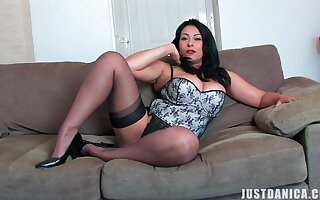 Amateur video of busty mature Danica Collins having solo fun