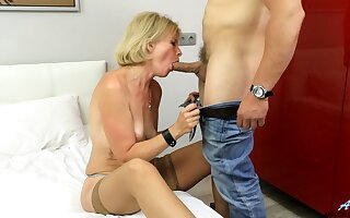 Mommy rides plus sucks cock like she's 19 ever after