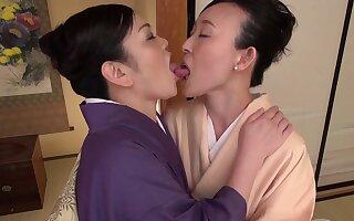 Closeup video of a busty Asian girl getting licked by Uekawa Haruko