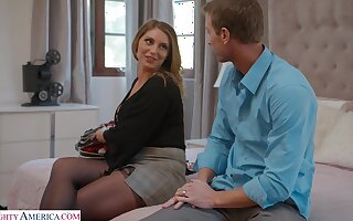 Sultry cougar Kayley Gunner moans during passionate fucking