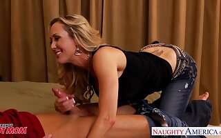 Killing hot woman roughly fake boobs Brandi Love hits on son's best side