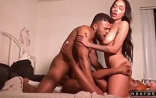Team a few Big-titted Uk Caramel Babes Share Their Pussies