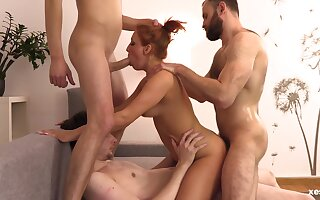 Hot Redhead Milf Fucked Indestructible By Twosome Guys