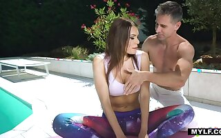 MYLF Flavourful Yoga MILF rides after Stretching