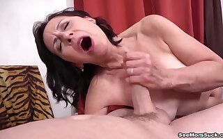 Mom Danina catches  supplicant jerking not present and gives him a blowjob