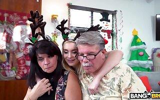Grim Anastasia Knight spreads her legs to ride a Santa Claus