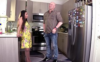 Hardcore fucking in transmitted to kitchen with horny wife Krystal Davis