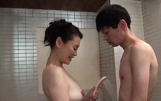First majority this of the first water Japanese MILF fucks at the shower