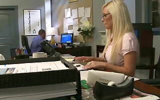Amazing nude porn at the office with the new secretary