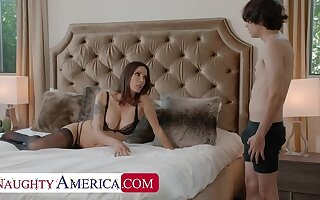 Naughty America: Shay Sights wants Ricky to effect some chores and his cock!! on PornHD