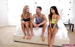 Threesome porn be required of mommy and her stepdaughter