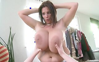Hot lesbian MILFs with big upfront melons