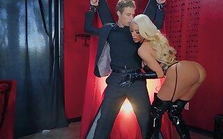 BDSM charm video with maledom forgo blonde Nicolette Shea