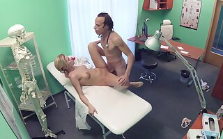 Erotic fantasy caught on cam between the doctor and the nurse