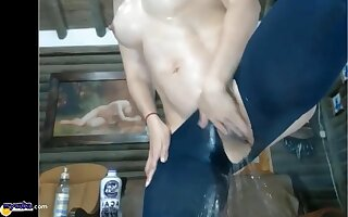 Unbelievable hot Milf with perfect Nipples and a Big Perfect Round Ass is Squirting