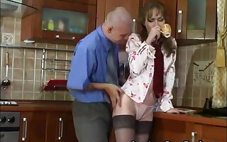 Sexy Russian Mature Fucks Young Suppliant In Kitchenette