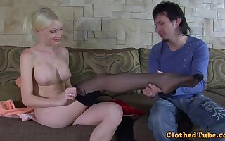 Hilda increased by Rolf russian MILF porn videotape
