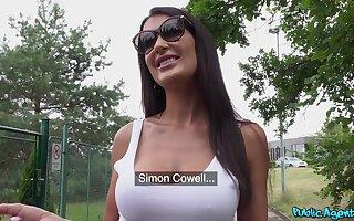 POV video of mature brunette Princess Jasmine with pierced pussy