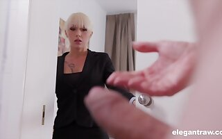 Christina catches turn someone on imprison partner jerking off and decides to encourage him