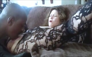 Hot grandma squirting while get clit defeated and fingered