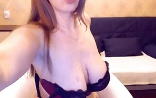 Russian webcam generalized shows her full inept big tits