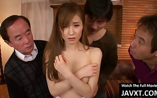 Japanese milf likes when men are fantasies millions of lube in the long run b for a long time having it away her brains out