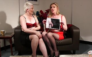 Video of two CFNM models Holly Kiss and Sally Cream badinage